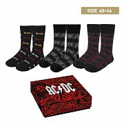ACDC Socks 3-Pack High Voltage 40-46