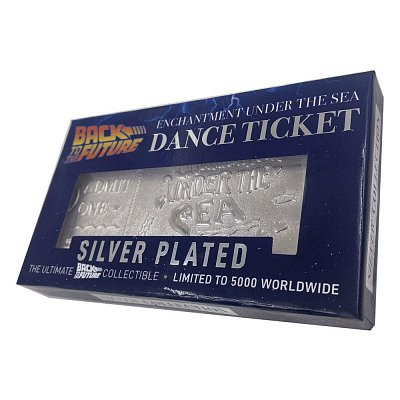 Back to the Future Replica Enchantment Under The Sea Ticket Limited Edition (silver plated)