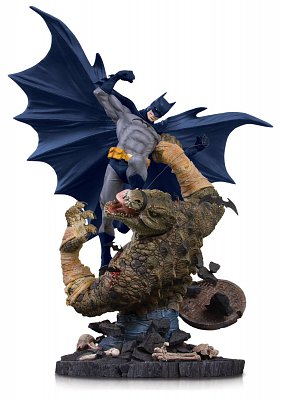 DC Comics Mini Battle Statue Batman vs. Killer Croc 21 cm --- DAMAGED PACKAGING