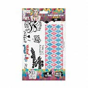 DC Comics Temporary Tattoos 40-Set Harley Quinn