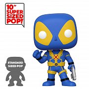 Deadpool Super Sized POP! Vinyl Figure Thumb Up Blue Deadpool 25 cm  --- DAMAGED PACKAGING