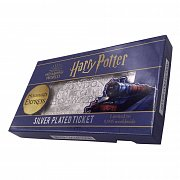 Harry Potter Replica Hogwarts Train Ticket Limited Edition (silver plated)