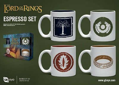 Lord of the Rings Espresso Mugs 4-Pack Symbols