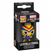 Marvel Luchadores Pocket POP! Vinyl Keychains 4 cm Captain Marvel Display (12)
