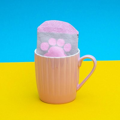 Pusheen Sock in a Mug Pink Cupcake
