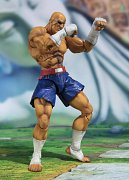 Street Fighter S.H. Figuarts Action Figure Sagat Tamashii Web Exclusive 17 cm --- DAMAGED PACKAGING
