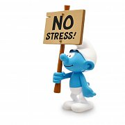 The Smurfs Collector Collection Statue Smurf with a Sign No Stress! 18 cm